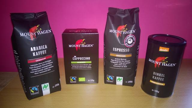 Arabica Kaffee, Cappuccino, Espresso und Dinkel Kaffee von Mount Hagen