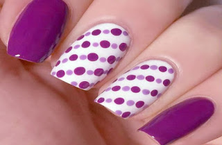 Dot Nail Art And Color Combinations