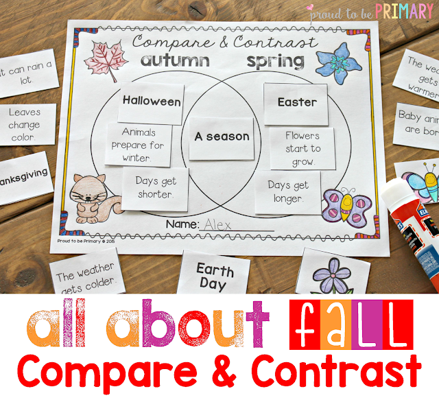 fall lesson plans - compare and contrast