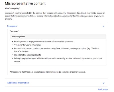 """Google sudah menghapus pernyataan """"berita palsu"""" dari petunjuk iklan."""