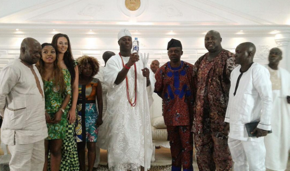 courtesy visit by IK Ogbonna's wife meets the Ooni of Ife (photographs)