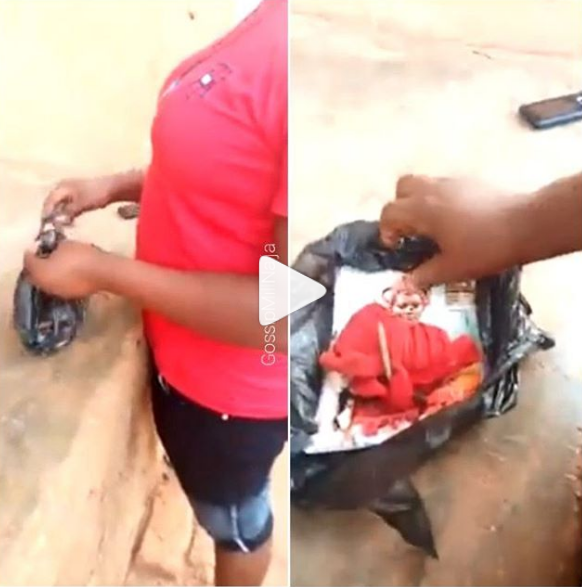 Lady Almost Fainted  After Finding Her Picture Nailed With Juju In Her Mother-in-law's Cupboard