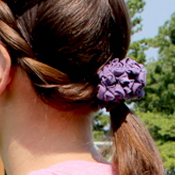 t-shirt refashion hair flower