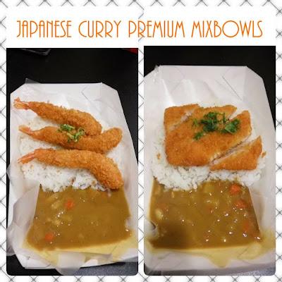 japanese curry premium mixbowl rasa kari udang dan kari ikan