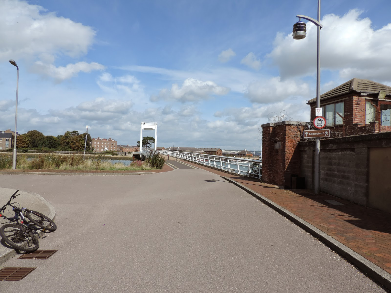 Footbridge to the Explosion Museum of naval firepower Gosport