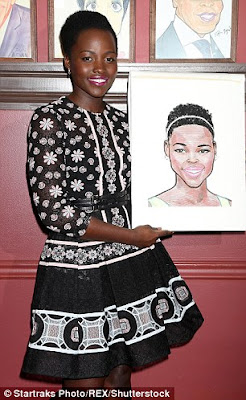 Lupita Nyong'o unveils her caricature in NYC restaurant