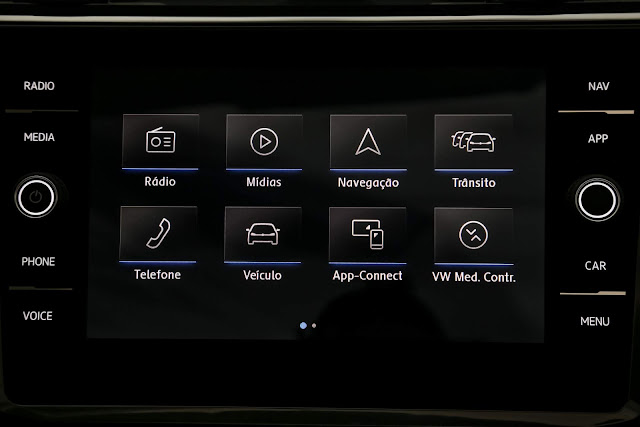 VW Tiguan AllSpace 2019 R-Line -  sistema multimídia