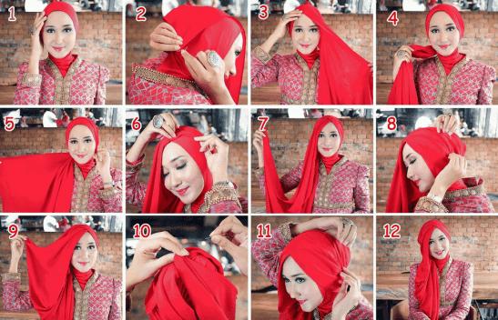Tutorial Hijab Pengantin ala Dian Pelangi untuk Resepsi Pesta Pernikahan dan Akad Nikah