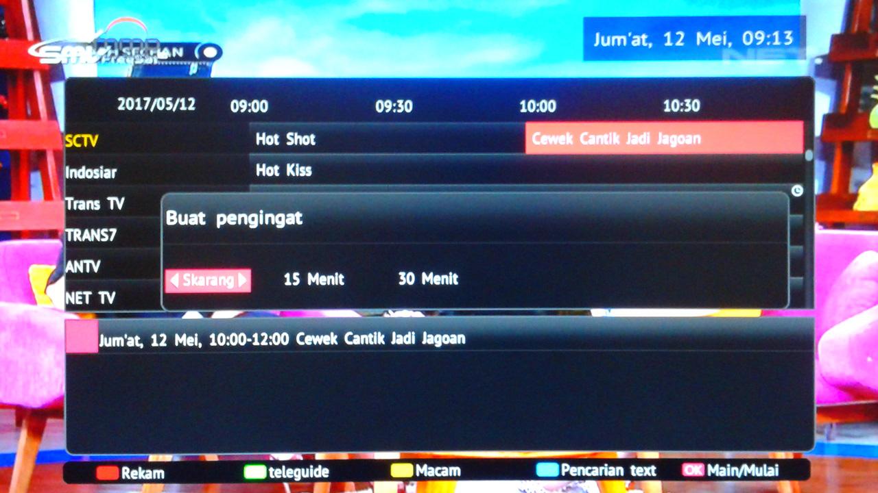 Channel TV Pindah Sendiri di Receiver SMV MMP Raja Ampat