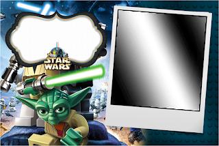 Para hacer invitaciones, tarjetas, marcos de fotos o etiquetas, para imprimir gratis de Star Wars Lego