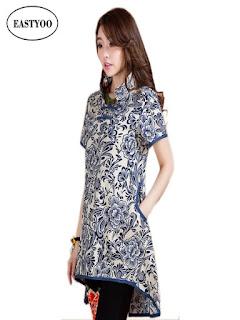 desain baju batik wanita modern 2018