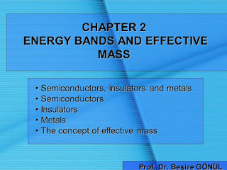 ENERGY BAND AND EFFECTIVE MASS