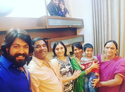Radhika Pandit Family with Yash