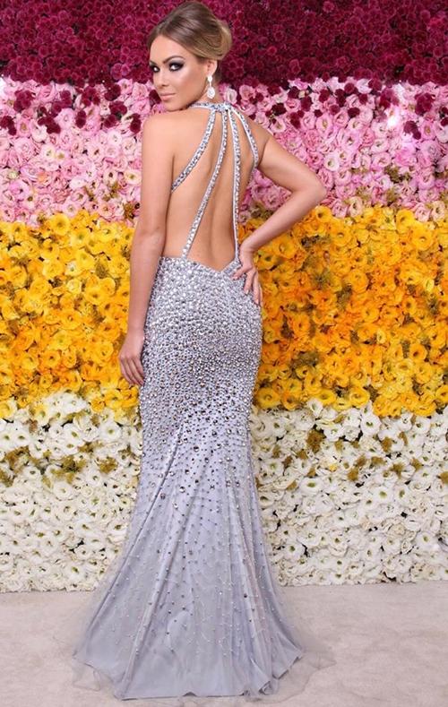 vestido de festa prata formatura