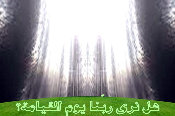 هل نرى ربّنا يوم القيامة؟-رؤية الله يوم القيامة-www.taraef
