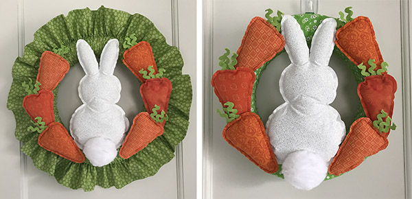 Fabric Easter Bunny & Carrot Wreath Tutorial