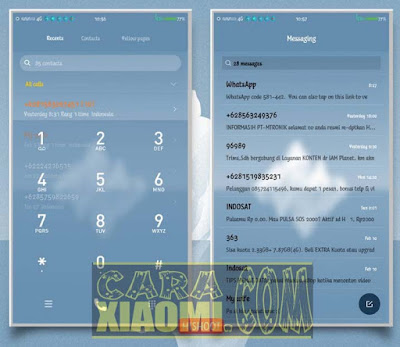 download new Tema MIUI Mod ICE Blue Tosca Full Theme For Xiaomi