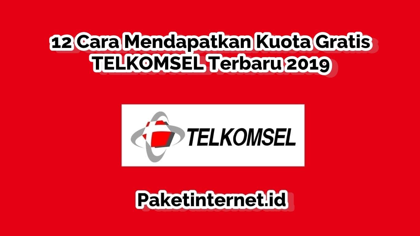 12 Cara Mendapatkan Kuota Gratis Telkomsel Terbaru 2019 Paket