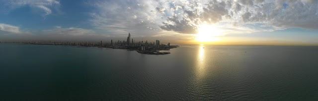 #تصويري صور بانورامية لمدينة الكويت 14-4-2019