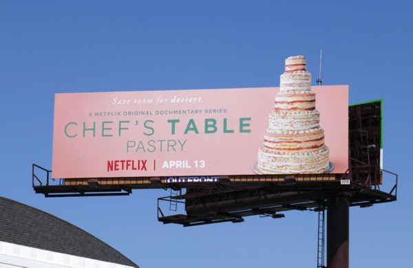 Chefs Table Pastry extension cut-out billboard