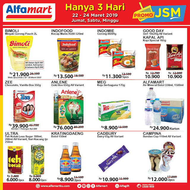 #Alfamart - #Promo #Katalog JSM Periode 22 - 24 Maret 2019