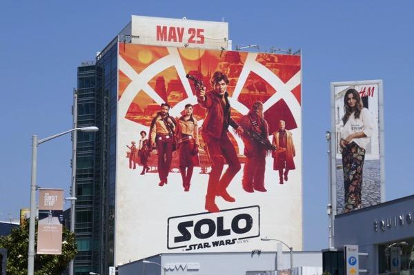 Giant Solo Star Wars movie billboard