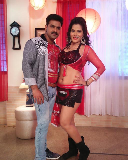 Bhojpuri heroine Seema Singh with Pawan Singh