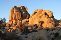 Giant boulder along the east canyon rim, Desert Queen Mine, Joshua Tree National Park