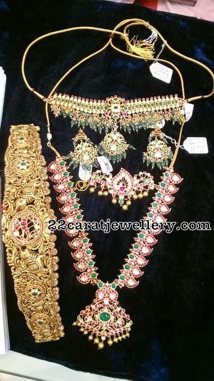 Mango Mala Kundan Choker Emerald Drops