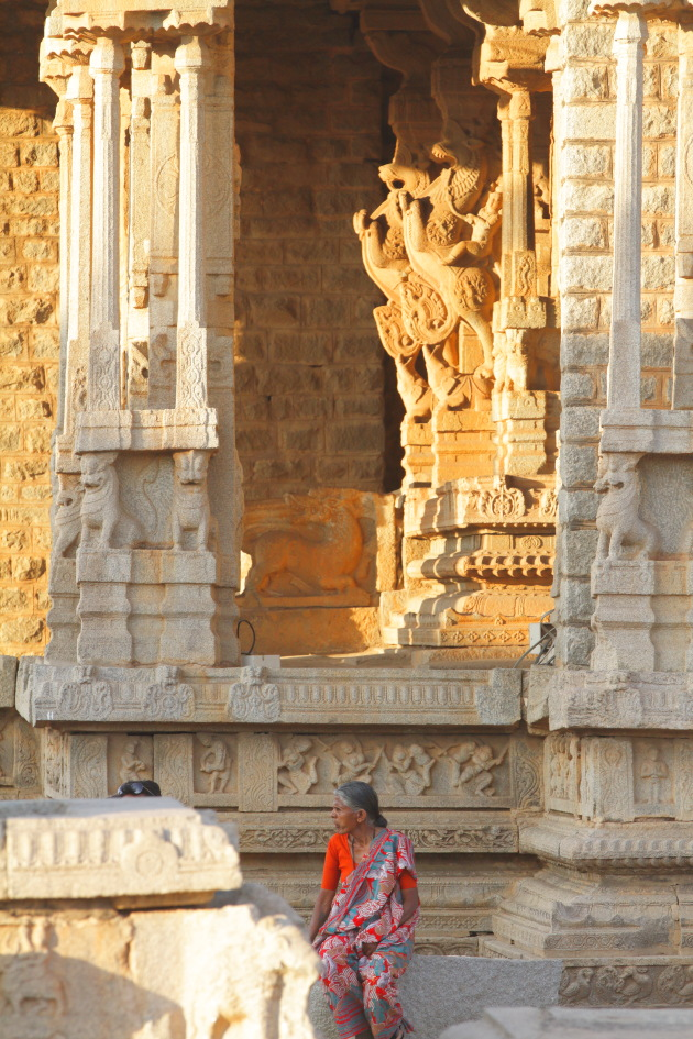 Street Moment from Vittala Temple, Hampi, Karnataka