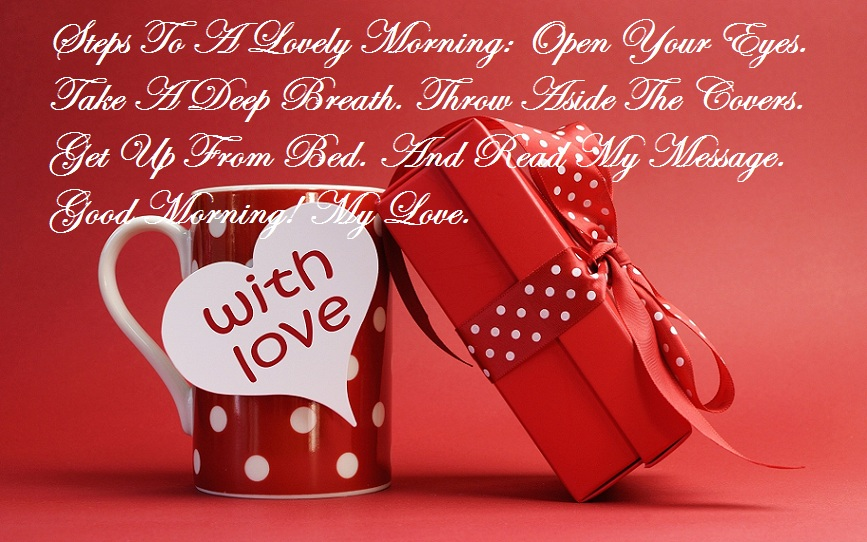 Good morning to you my love messages