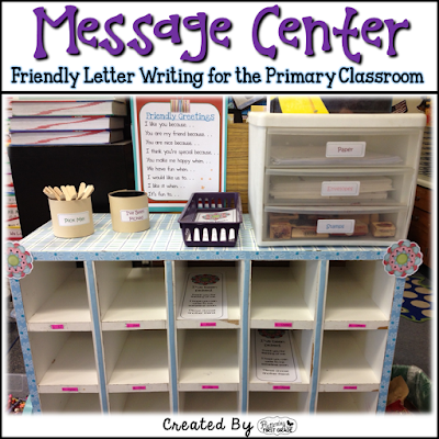Message Center friendly letter writing for the primary classroom