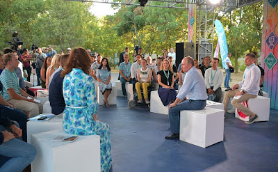 Vladimir Putin answered the questions during the Tavrida National Youth Educational Forum.