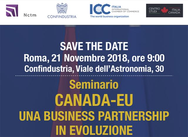Canada-UE, una business partnership in evoluzione. Seminario presso la sede nazionale di Confindustria