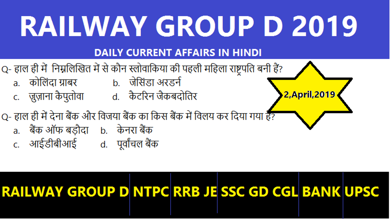 RRC GROUP D Railway GK Questions and Answers in Hindi