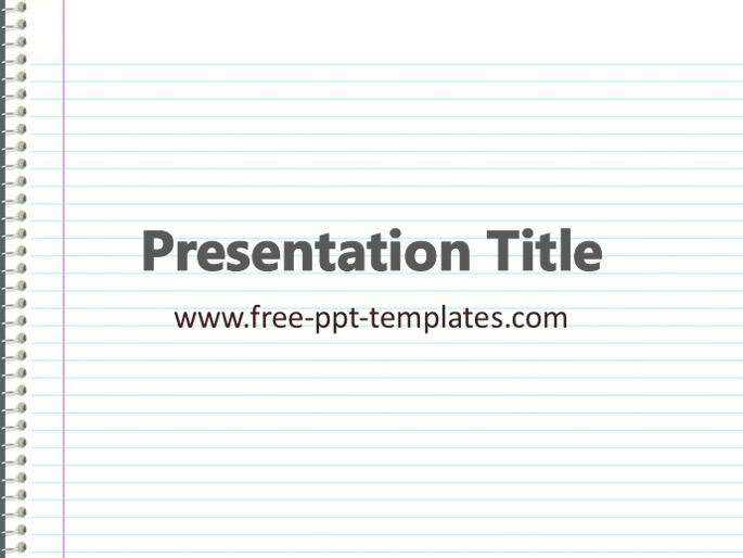 Notebook PPT Template