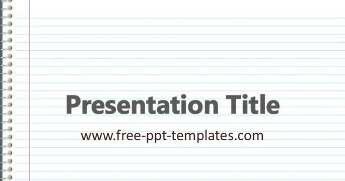 Notebook ppt template toneelgroepblik Gallery