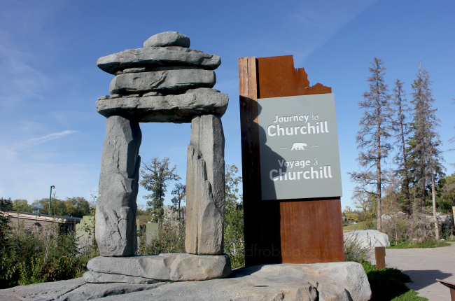journey to churchill entrance