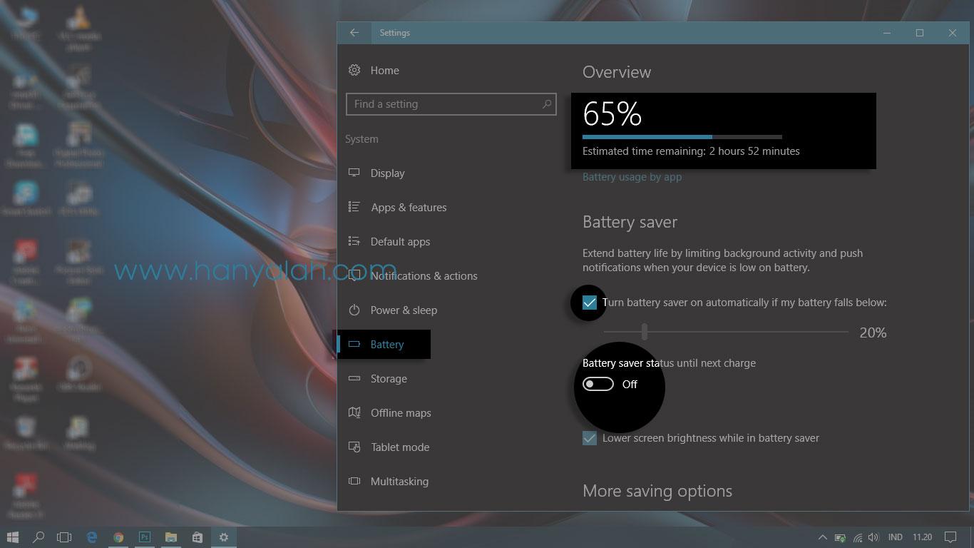 Panduan Bagaimana Cara Mengaktifkan Fitur Battery Saver Mode Windows 10