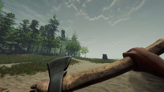 Hướng dẫn tìm rìu sắt cán gỗ Rusty Axe trong tựa game Axe