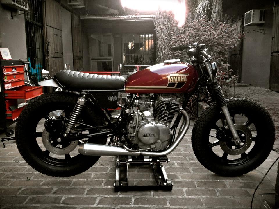 xs400 by herencia custom garage inazuma caf racer. Black Bedroom Furniture Sets. Home Design Ideas