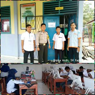Polres Muba Pantau Pelaksanaan UNBK di Kabupaten Muba