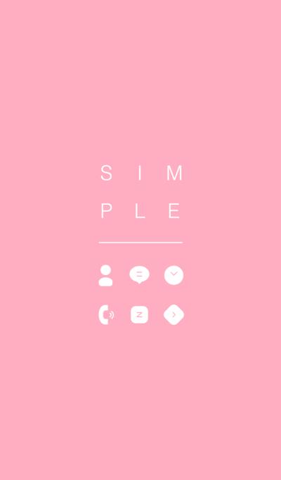 SIMPLE / pastel pink.