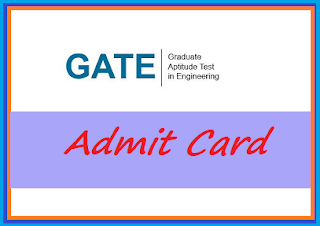 GATE 2019 admit card | Hall ticket - Call letter Download