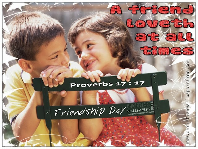 Friendship Day HD Christian Bible Verse Wallpaper