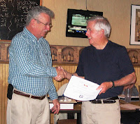 Ron Coleman receives Sustained Service Award from Paul Harren
