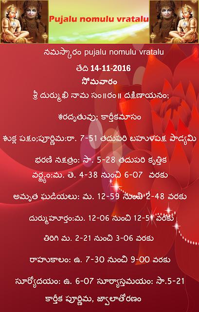 Today's panchangam in Telugu ,rasi phalalu