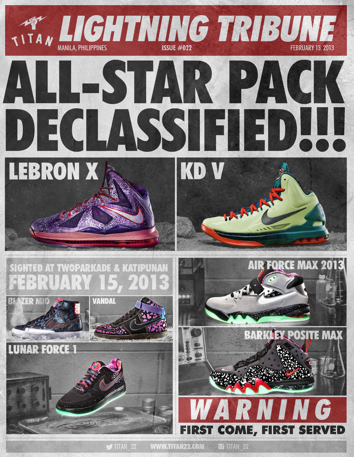 new products be9fd 3dc60  SNEAKER RELEASE  NIKE BASKETBALL   NIKE SPORTSWEAR  AREA 72′ ALL-STAR 2013  COLLECTION