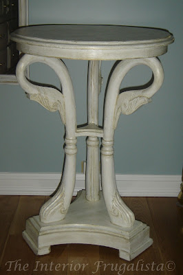 Swan Table Before Second Makeover