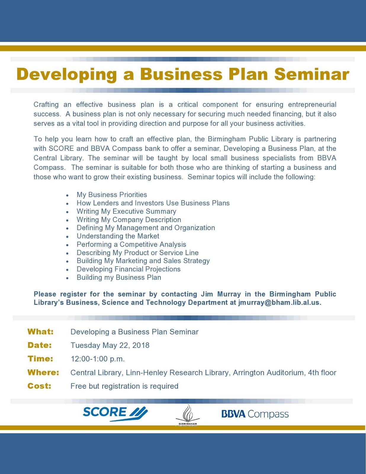 writing an effective business plan